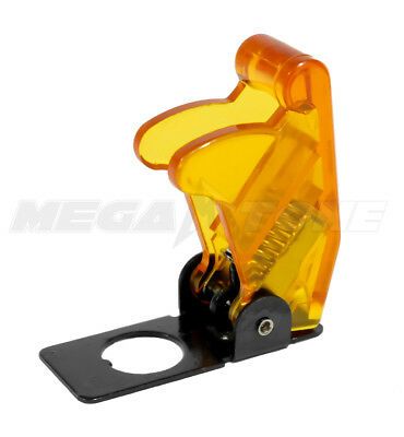 1 Pc Clear Amber Toggle Switch Safety Cover Guard Plasticmetal - Usa Seller