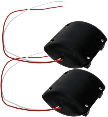 Yootop 2Pcs DC12V 2300RPM Slow Massager Vibration Motor w/ Black Plastic Shell