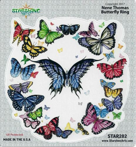 BUTTERFLY RING Fairy Sticker Car Decal Nene Thomas butterflies butter fly