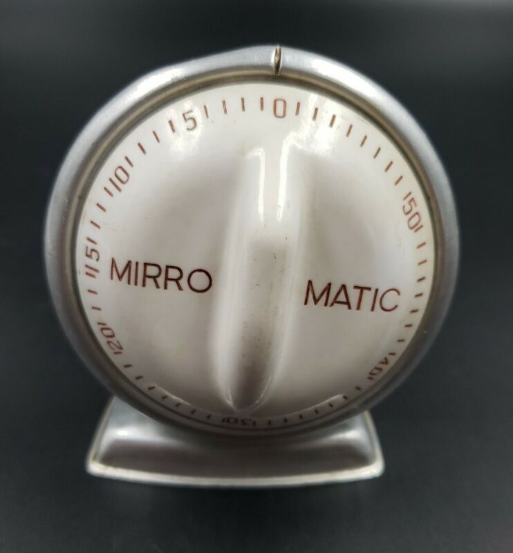 Vintage Mirro Matic Kitchen Timer by Robert Shaw Lux Co MCM 1 HR Baking Cooking