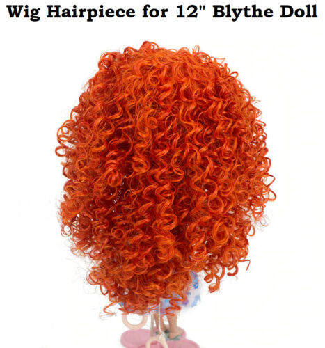 "New Wigs Hairpiece for 12"" Blythe Doll Heat Resistant Curly Orange Hair Fashion"