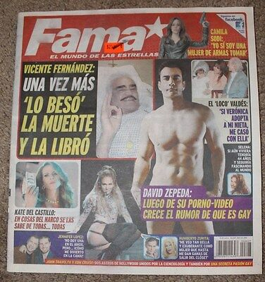 FAMA, REVISTA MEXICO, COMO TV NOVELAS, TV NOTAS, Vicente Fernandez, David Zepeda