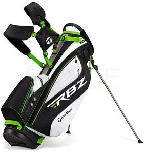 NEW-TAYLORMADE-RBZ-STAND-GOLF-CARRY-BAG-ROCKETBALLZ-BLACK-WHITE-GREEN-SLIME