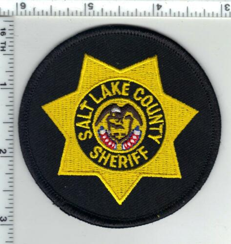 Salt Lake County Sheriff (Utah) Black Background Shirt/Jacket Patch  1980