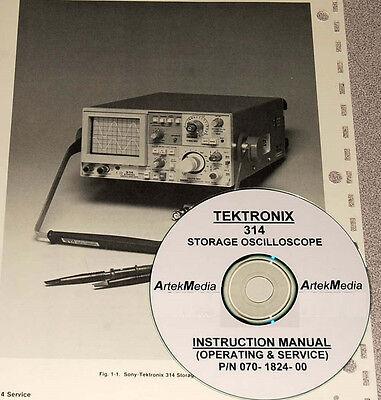 Sony Tektronix 314 Storage Oscilloscope Service Manual