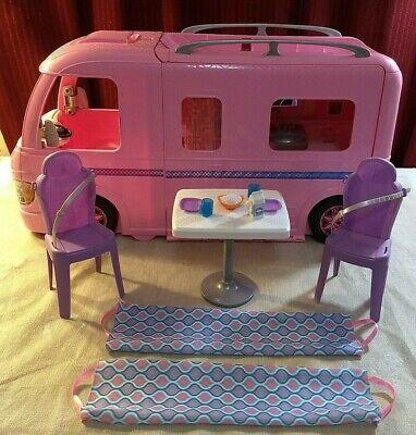 Mattel Barbie Dream Camper Pink RV Bus Home Van Motor Playset & Accessories