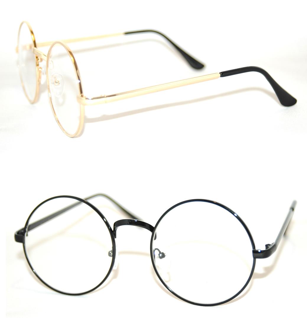 Brille Rund John Lennon Nickelbrille 70er Vintage Hippie Ohne Stärke fab110AB