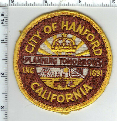 City of Hanford Police (California) uniform Take-Off 2nd Shoulder Patch 1960's