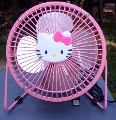 USB PINK HELLO KITTY 6 INCH FOUR METAL BLADES FAN PORTABLE USE IN OFFICE HOME segunda mano  Embacar hacia Argentina