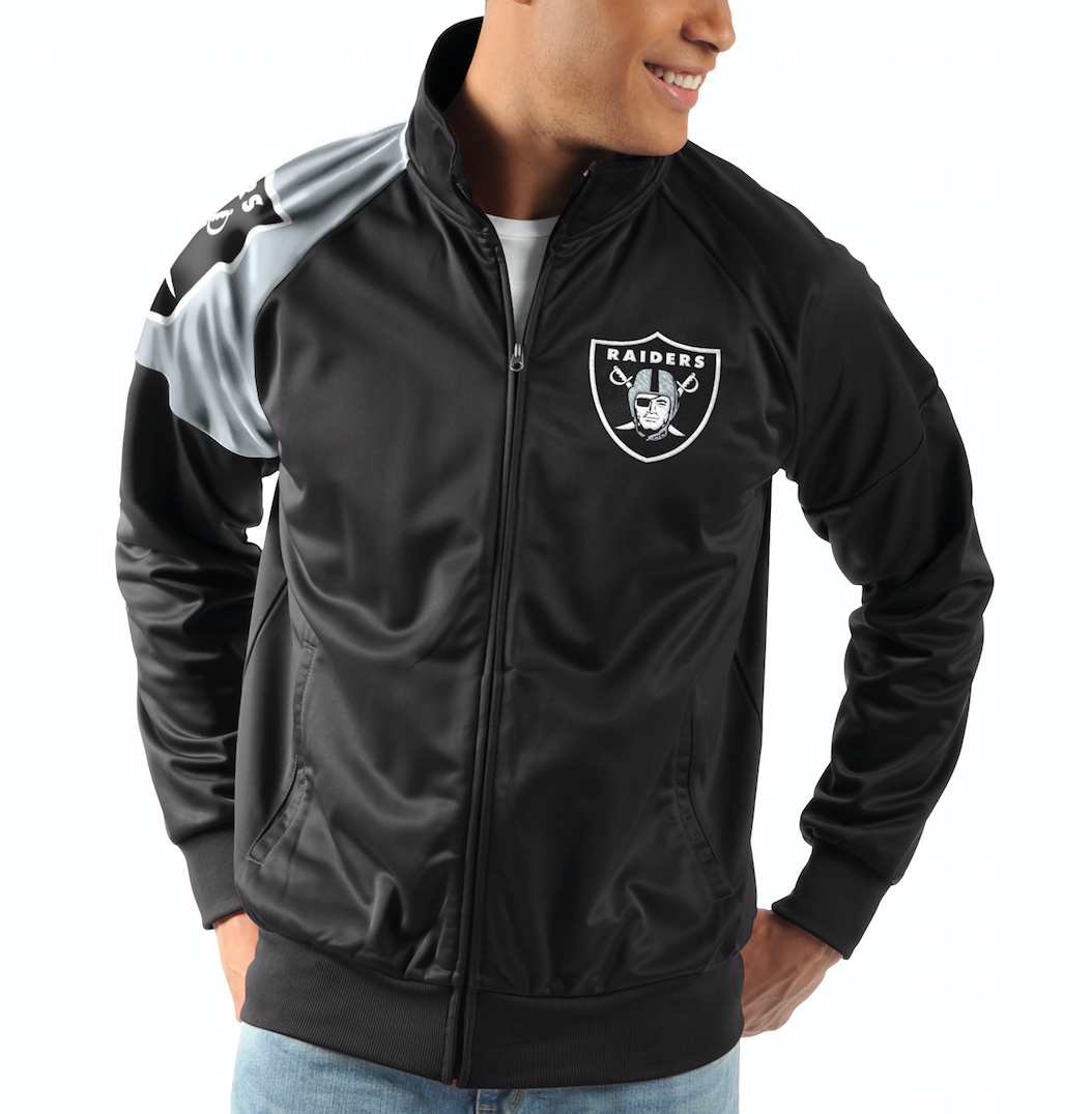Oakland Raiders G-III Sports INTERCEPTION Full-Zip NFL Track