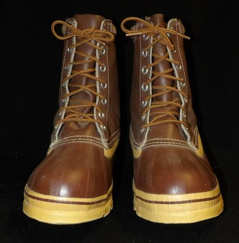 VTG MEN CONFOOT STEEL SHANK LEATHER RUBBER WORK SHOES BOOTS NEW OLD NOS SZ 9
