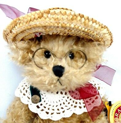 "NWMT 1997 BRASS BUTTONS Teddy Bear Plush Stuffed ""Rosie ~Bear of Joy"" Crocheted"