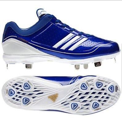 fb35e8edcb8648 Adidas Adizero Diamond King Blue Metal Baseball Cleats G24749 Men Size 12