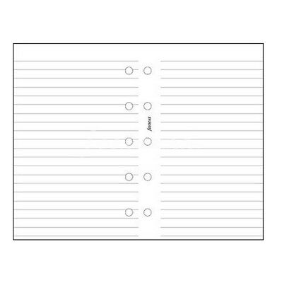 Filofax Mini White Ruled Notepaper Organiser Insert Refill Accessory 513008