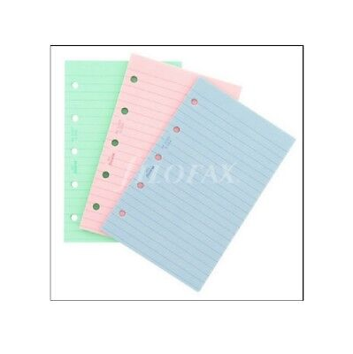 Filofax Mini Fashion Coloured Ruled Note Paper Organiser Insert 30 Sheets 513507