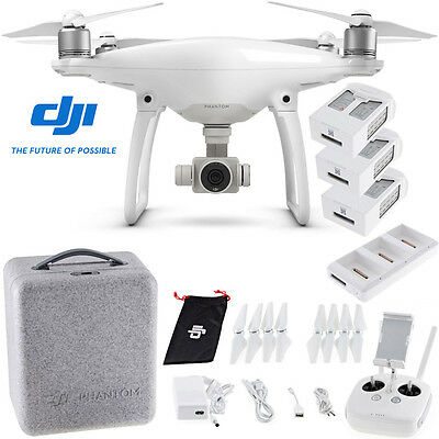 DJI Phantom 4 Advanced Quadcopter Drone with 2 Extra Batteries and Charging Hub