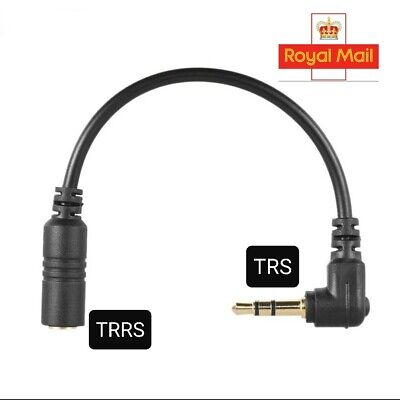TRRS to TRS Cable Adapter 3.5mm for Digital Cameras DSLR PC Microphone...