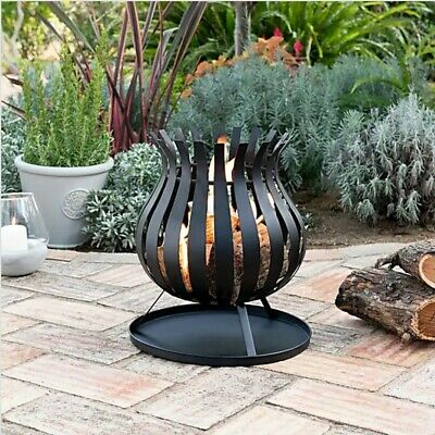 Bulb Fire Basket Fire Pit Garden Patio Heater Chimenea New Boxed - FREE P&P