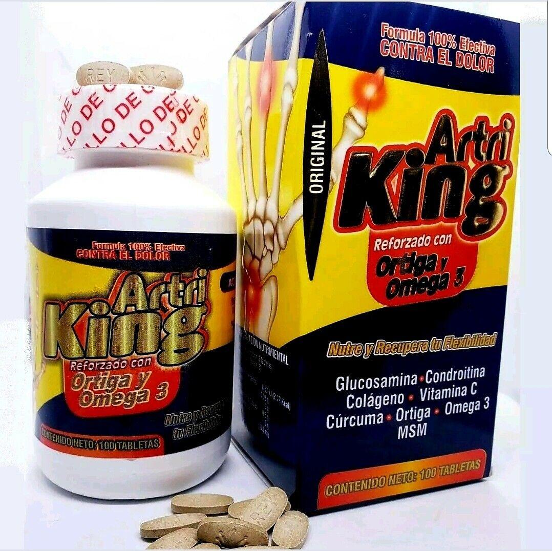 ARTRI KING artriking ORTIGA + OMEGA 3 + CURCUMA 100 tabs ORIGINAL