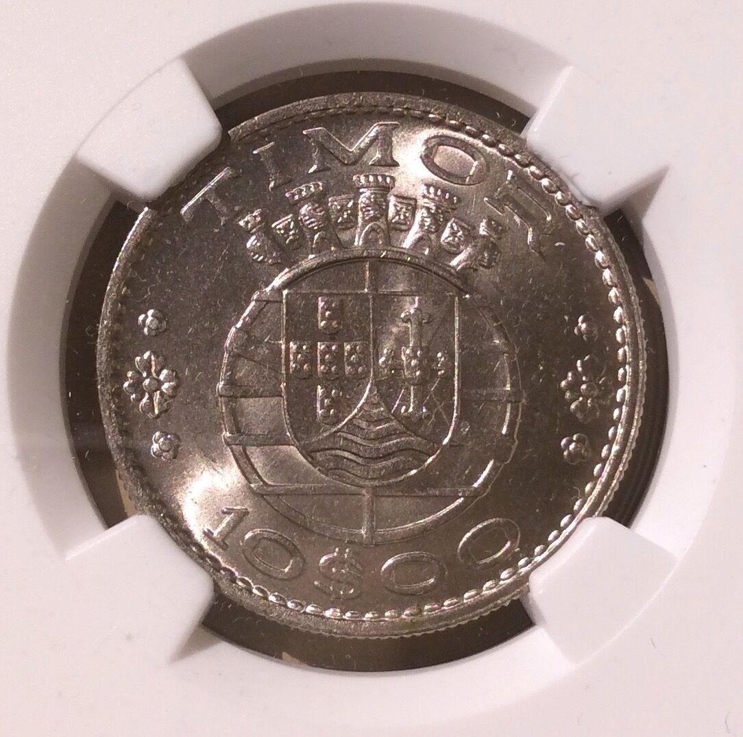 Timor 1970 ten escudos ngc ms 64