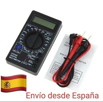 Polimetro Multimetro Voltimetro Tester Amperimetro Digital DT830B foto real ahi