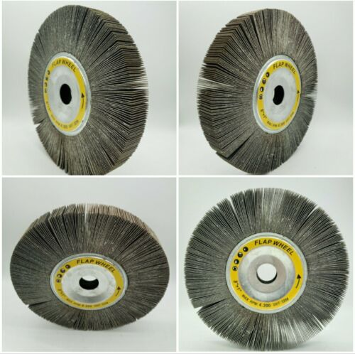 Lot of 4 NEW Unmounted Flap Wheels 8″x1″x1″ 320 Grit – Flap Wheel 4 pack 8x1x1 Abrasive Wheels
