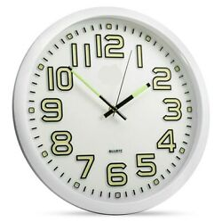 13 inch Glow Dark Wall Clock Silent Quartz Luminous Wall Classic Night Clocks