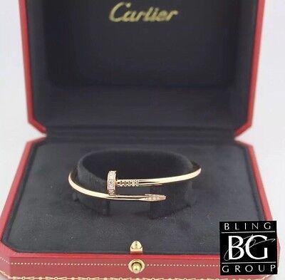 CARTIER®* Diamond Juste Un Clou™ Bracelet 18k Yellow Gold!
