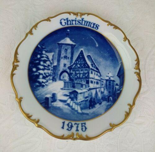 "Vintage DRESDEN  PORCELAIN 8"" CHRISTMAS PLATE 1975 West Germany Excellent."