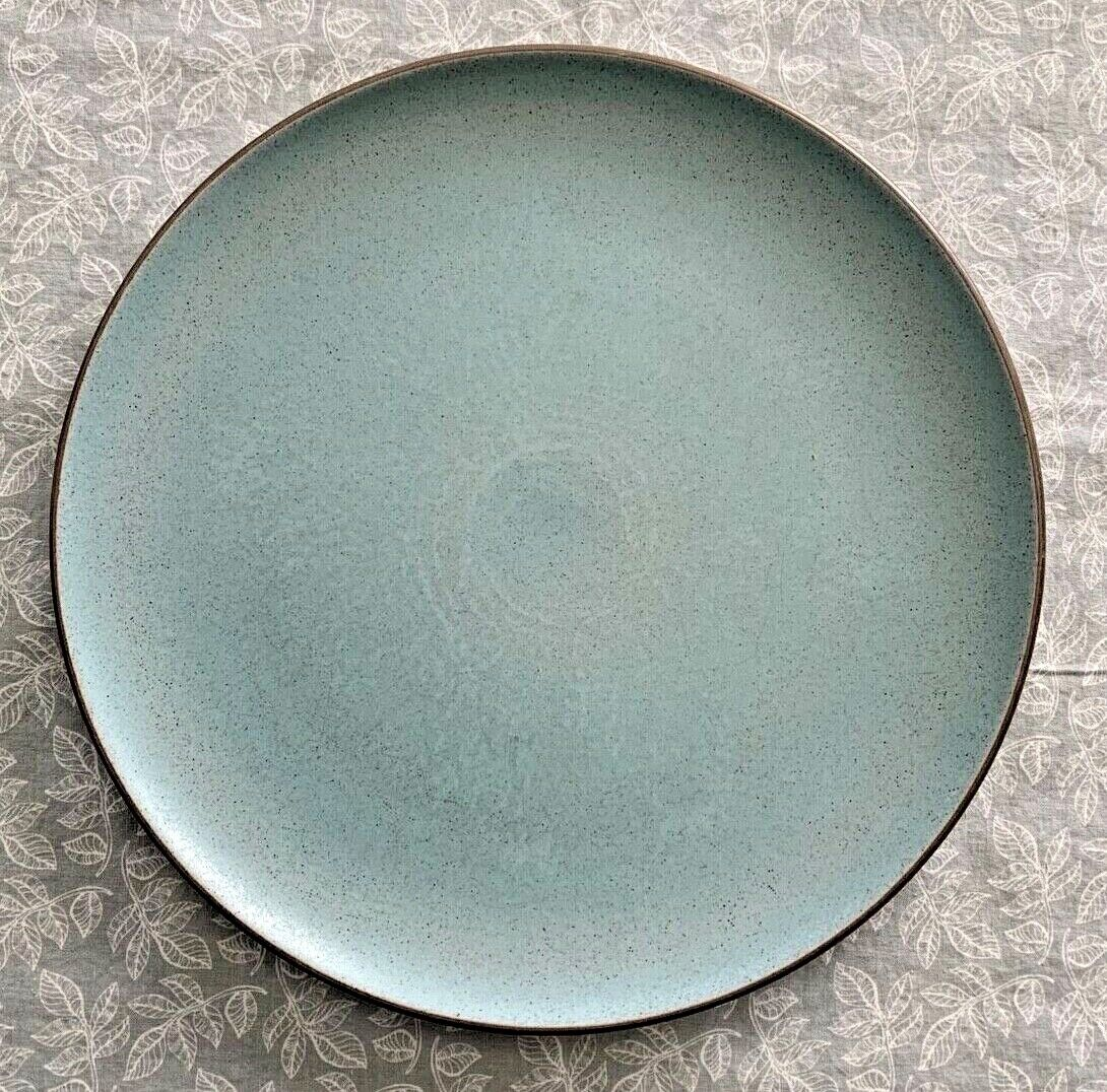Turquoise Coupe Shape By Heath USA Ceramics 10-5/8 Dinner Plate - 1990s - $45.00