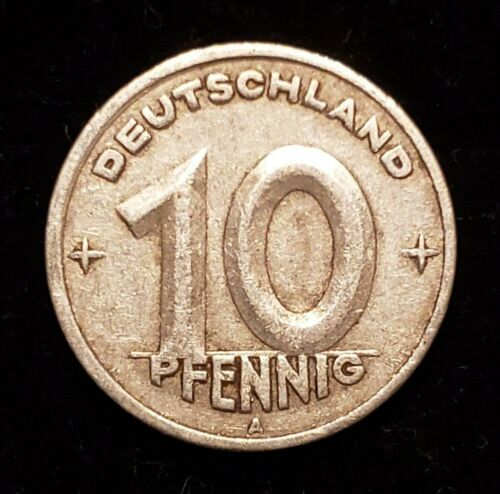 Vintage 1949 A 10 Pfennig Coin – DDR, East Germany