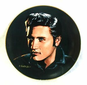 ELVIS-PRESLEY-Plate-Love-Me-Tender-Plate-One-PORTRAITS-of-the-KING-8-1-2