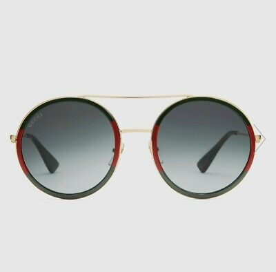 Gucci Round-frame metal sunglasses gold metal