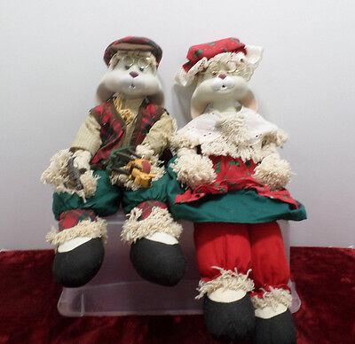 Porcelain Dolls House of Lloyd Porcelain Grandma & Grandma Rabbit
