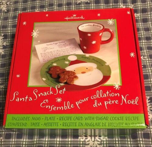 HALLMARK SANTA SNACK SET - FOR CHRISTMAS EVE - MUG, PLATE & RECIPE