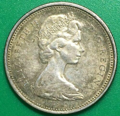 1966 Elizabeth II Canadian Quarter 80% Silver Canada Toning