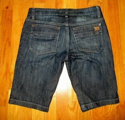 Joes Jeans Womens Bermuda Shorts Cut Off Cigarette Thompson Size 28 (Cut Off Bermuda Shorts)
