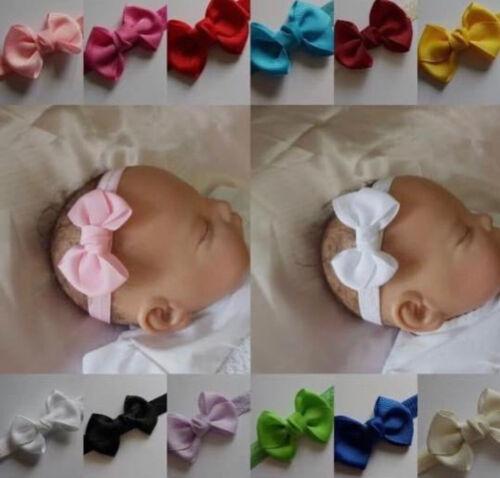 Baby headband Bow Baby Girls Headbands Hairband All Sizes  Super Soft 28 colours