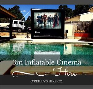 3 Metre Inflatable Outdoor Cinema Hire Perth - O'Reilly's Hire Co. Kelmscott Armadale Area Preview