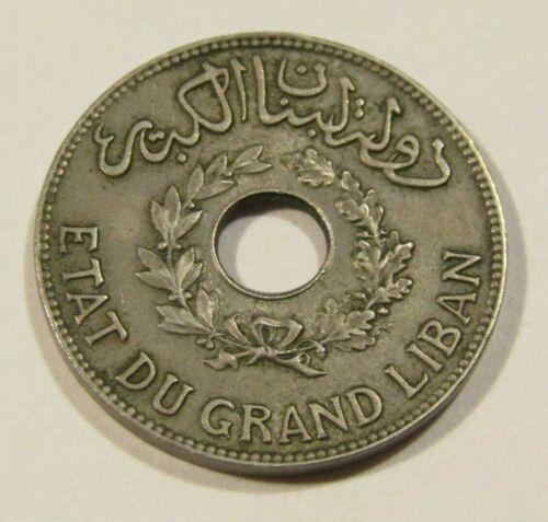 Lebanon 1925 1 Piastres Coin