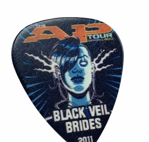 Guitar Pick Black veil Brides concert memorabilia Andy Biersack AP tour 2011 AP