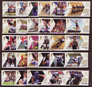 GREAT-BRITAIN-LONDON-2012-OLYMPICS-FINE-USED-FULL-SET-OF-29-SINGLE-STAMPS