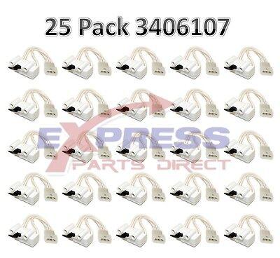 (25 Pack ) 3406107 (WP3406107) Whirlpool Kenmore Roper Maytag Dryer Door Switch