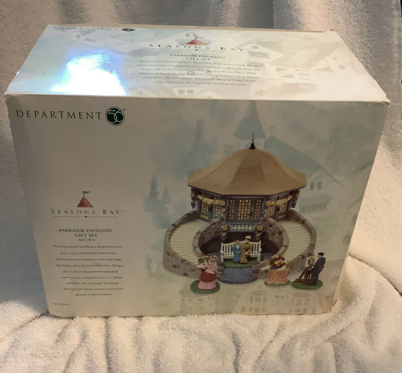 Dept. 56 PARKSIDE PAVILION GIFT SET  Seasons Bay #56.53412