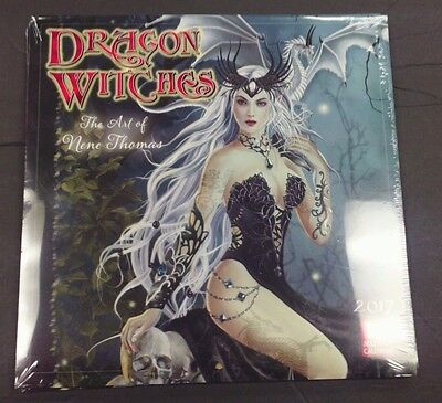 Sellers Publishing 2017  Dragon Witches  The Art Of Rene Thomas  Wall Calendar