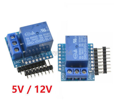 5v12v Wemos D1 Mini Relay Shield For Esp8266 Arduino Uno R3 Development Board