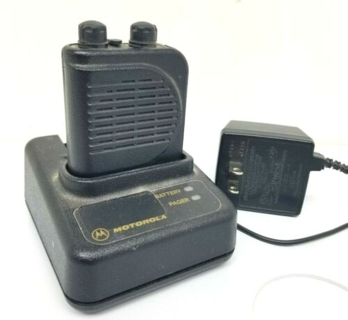 MOTOROLA MINITOR III (3)  Voice Pager 2 Ch Battery Charger & Clip Fire Dept EMS