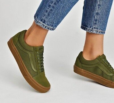 Vans OLD SKOOL Skate Shoes MEN'S Size 10 Winter Moss/Gum