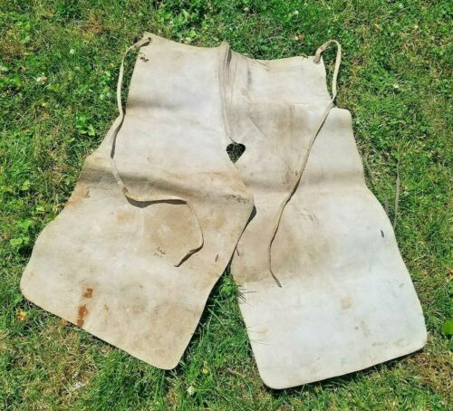 VINTAGE  Suede Leather Apron Horse Shoeing Farrier Chaps