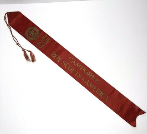 Vintage Boy Scouts Of America Second Award Camporee Ribbon
